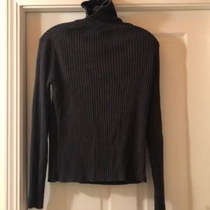 Pendleton dark grey ribbed turtleneck